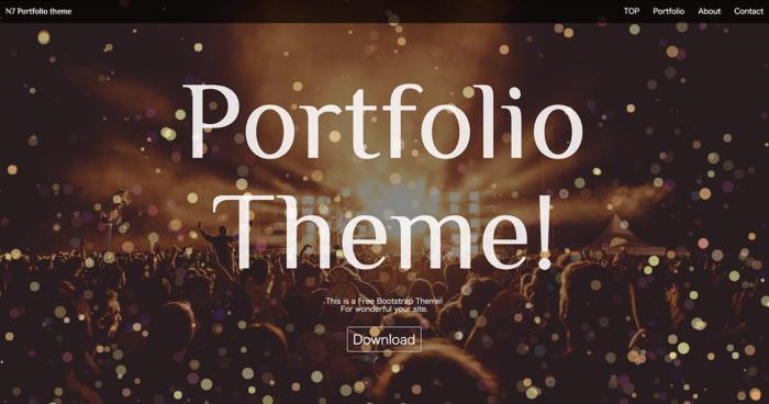 n7 portfolio theme